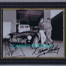 CARROLL SHELBY AND STEVE MCQUEEN SIGNED AUTOGRAPHED AUTOGRAM 8X10 FRAMED BW RP PHOTO COBRA