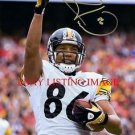 HINES WARD AUTO AUTOGRAPHED 8x10 RP PHOTO PITTSBURGH STEELERS LEGENDARY PLAYER