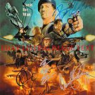 THE EXPENDABLES CAST SIGNED 8x10 RP PHOTO BY 9 STALLONE WILLIS SCHWARZENEGGER LI