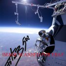 FELIX BAUMGARTNER SIGNED AUTOGRAPHED 8x10 RP PHOTO WORLD RECORD SPACE SKYDIVE DAREDEVIL
