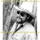 HANK WILLIAMS JR AUTOGRAPHED 8x10 RP PUBLICITY PHOTO COUNTRY BOY
