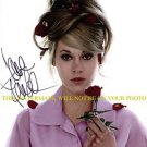 JANE FONDA AUTOGRAPHED AUTO 8x10 RP PHOTO YOUNG BEAUTIFUL WITH ROSES