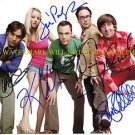 THE BIG BANG THEORY CAST SIGNED AUTOGRAPHED 8x10 RP PHOTO KALEY CUOCO JIM PARSON ALL 5