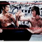 CHUCK NORRIS AND BRUCE LEE AUTOGRAPHED 8x10 RP PHOTO