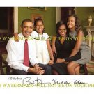 PRESIDENT BARACK AND MICHELLE OBAMA SIGNED AUTOGRAPHED 8x10 RP PUBLICITY PHOTO