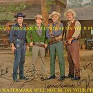 BONANZA CAST SIGNED AUTOGRAPHED 8x10 RP PHOTO ALL 4 ROBERTS GREENE LANDON AND BLOCKER
