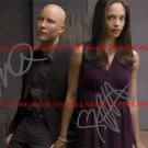 KRISTIN KREUK AND MICHAEL ROSENBAUM AUTOGRAPHED 8x10 RP PHOTO SMALLVILLE CAST
