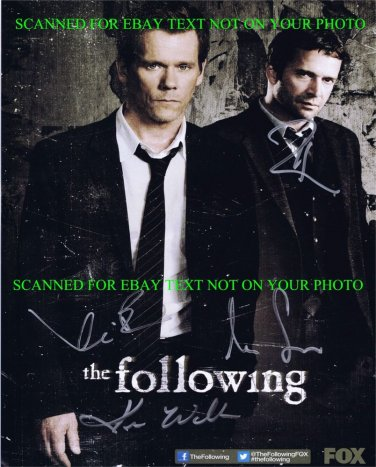 THE FOLLOWING CAST SIGNED 8x10 RP PHOTO KEVIN BACON JAMES PUREFOY +