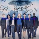 V VISITOR CAST AUTOGRAPHED 8x10 RP PHOTO BY 7 MITCHELL BACCARIN +