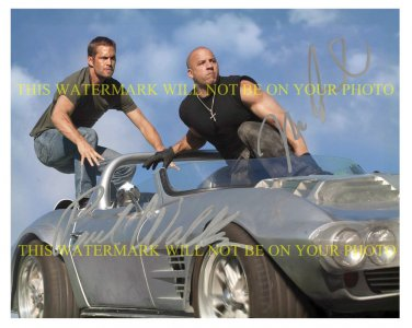 VIN DIESEL AND PAUL WALKER SIGNED AUTOGRAPHED 8x10 RP PHOTO THE FAST AND FURIOUS CAST