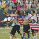 LANDON DONOVAN AND FRANKIE HEJDUK SIGNED AUTOGRAPHED 8x10 RP PHOTO USA SOCCER TEAM