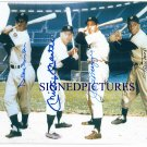 DUKE SNIDER JOE DIMAGGIO MICKEY MANTLE & WILLIE MAYS SIGNED AUTOGRAPHED PHOTO