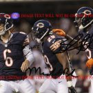 JAY CUTLER MICHAEL BUSH AND BRANDON MARSHALL AUTOGRAPHED 8x10 RP PHOTO CHI BEARS