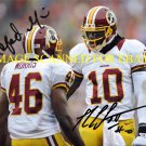 ROBERT GRIFFIN AND ALFRED MORRIS AUTOGRAPHED 8x10 RP PHOTO WASHINGTON REDSKINS