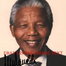 NELSON MANDELA AUTOGRAPHED AUTOGRAM 8x10 RP PHOTO INCREDIBLE LEADER