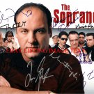 THE SOPRANOS CAST SIGNED AUTOGRAPHED 8x10 RP PROMO PHOTO JAMES GANDOLFINI EDIE FALCO +
