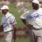 MICHAEL JORDAN AND TIGER WOODS SIGNED AUTOGRAPHED AUTO 8X10 RP PHOTO LEGENDS