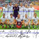 2011 US SOCCER TEAM SIGNED AUTOGRAPHED 8x10 PHOTO SOLO WAMBACH LLOYD