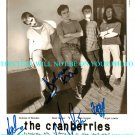 THE CRANBERRIES GROUP BAND SIGNED AUTOGRAPHED RP PHOTO
