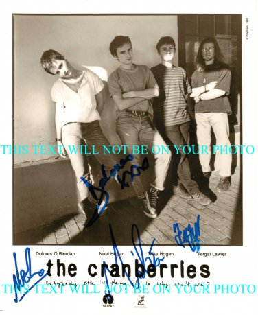 THE CRANBERRIES GROUP BAND SIGNED AUTOGRAPHED AUTOGRAPH 8X10 RP PHOTO DOLORES O'RIORDAN