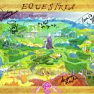 MY LITTLE PONY CAST SIGNED AUTOGRAPHED EQUESTRIA MAP RP PHOTO