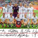2011 US SOCCER TEAM SIGNED AUTOGRAPHED 8x10 RP PHOTO SOLO WAMBACH LLOYD
