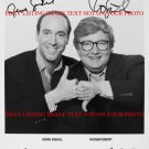 GENE SISKEL AND ROGER EBERT SIGNED AUTOGRAPHED 8x10 RP MEDIA PHOTO AT THE MOVIES