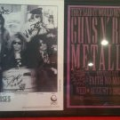 GUNS N' ROSES GNR FRAMED SIGNED AUTOGRAM AUTOGRAPHED RP PHOTO AND TOUR FLYER AXL SLASH IZZY DUFF