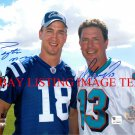 PEYTON MANNING AND DAN MARINO SIGNED AUTOGRAPHED AUTO 8x10 RP PHOTO LEGENDARY PLAYERS