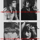 VELVET UNDERGROUND AUTOGRAPHED 6x9 RP MEDIA PROMO PHOTO LOU REED +