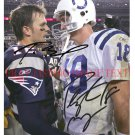PEYTON MANNING AND TOM BRADY SIGNED AUTOGRAPH AUTOGRAPHED 8x10 RP PHOTO