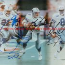TROY AIKMAN EMMITT SMITH AND MICHAEL IRVIN SIGNED AUTOGRAPH 8X10 RP PHOTO DALLAS COWBOYS