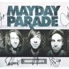 MAYDAY PARADE GROUP SIGNED AUTOGRAPHED 8x10 RP PHOTO ALL 5 DEREK BROOKS ALEX JEREMY
