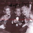 MARILYN MONROE LAUREN BACALL AND HUMPHREY BOGART AUTOGRAPHED SIGNED 8x10 RP PHOTO