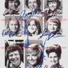 THE BRADY BUNCH SHOW CAST SIGNED AUTOGRAPHED RP PHOTO