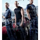 PAUL WALKER VIN DIESEL DWAYNE JOHNSON SIGNED AUTOGRAPHED 8X10 RP PHOTO FAST AND FURIOUS