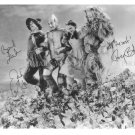 THE WIZARD OF OZ CAST AUTOGRAPHED 8x10 RPT PHOTO JUDY GARLAND HALEY LAHR BOLGER