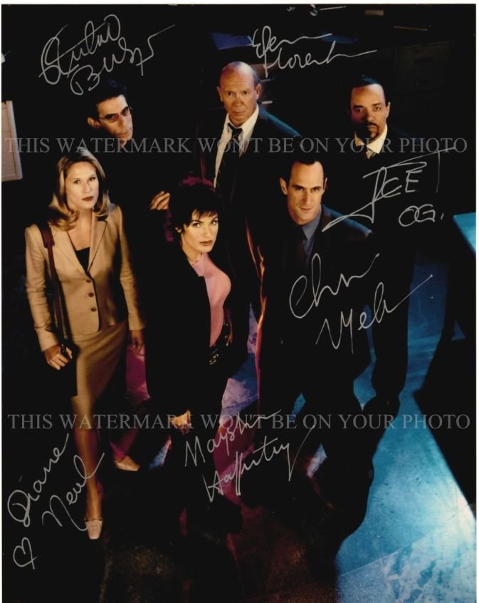 LAW AND ORDER SVU CAST SIGNED AUTOGRAPHED 8x10 RPT PHOTO