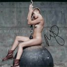 """MILEY CYRUS SIGNED AUTOGRAPHED 8""""X10"""" RPT PHOTO WRECKING BALL VERY SEXY BANGERZ"""