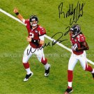 MATT RYAN AND RODDY WHITE ATLANTA FALCONS AUTOGRAPHED 8X10 RPT PHOTO