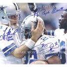 "COWBOYS TROY AIKMAN EMMITT SMITH AND MICHAEL IRVIN AUTOGRAPHED 8""X10"" RPT PHOTO"