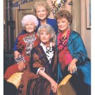 BETTY WHITE BEA ARTHUR MCCLANAHAN GETTY SIGNED 8x10 RP PHOTO THE GOLDEN GIRLS