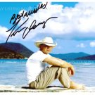 KENNY CHESNEY AUTOGRAPHED 8x10 RP PHOTO BEAUTIFUL ISLAND BEACH PICTURE