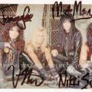 MOTLEY CRUE AUTOGRAPHED 8x10 RP PHOTO ALL 4 TOMMY NIKKI MICK VINCE