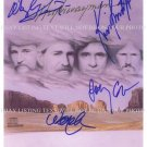 HIGHWAYMAN GROUP SIGNED AUTOGRAPHED 8x10 RP PHOTO WAYLON JENNINGS CASH NELSON KRISTOFFE