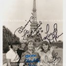THE FACTS OF LIFE CAST AUTOGRAPHED 8x10 RP PHOTO IN PARIS