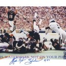 WALTER PAYTON AUTOGRAPHED 8x10 RP PHOTO CHICAGO BEARS LEGENDARY