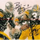 BEN ROETHLISBERGER AND JEROME BETTIS AUTOGRAPHED 8x10 RP PHOTO STEELERS