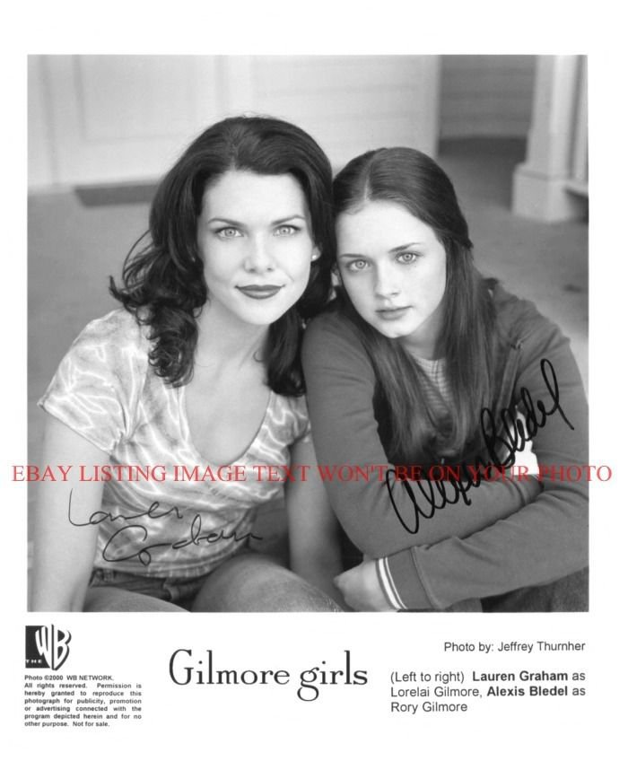 THE GILMORE GIRLS CAST AUTOGRAPHED 8x10 RP PHOTO LAUREN GRAHAM AND BLEDEL