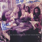 BIG BROTHER AND THE HOLDING COMPANY SIGNED AUTOGRAPHED 8x10 RP PHOTO W JANIS JOPLIN